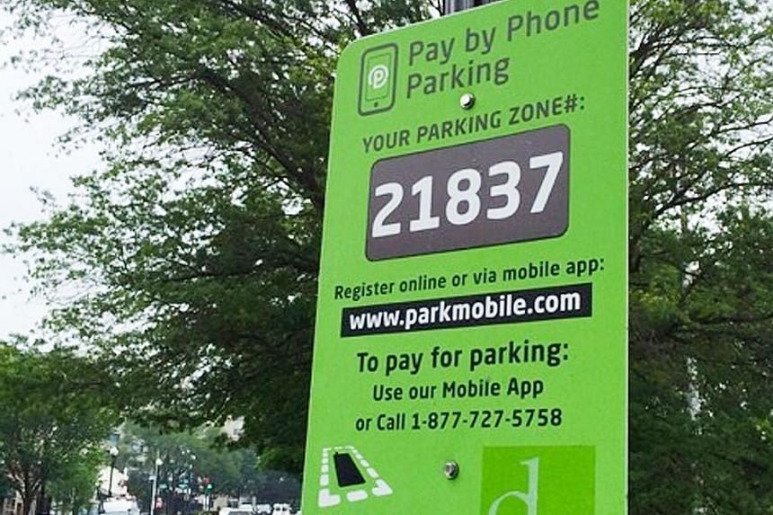 The Parkmobile system in the US allows the public to pay for parking with just an app and a mobile phone.