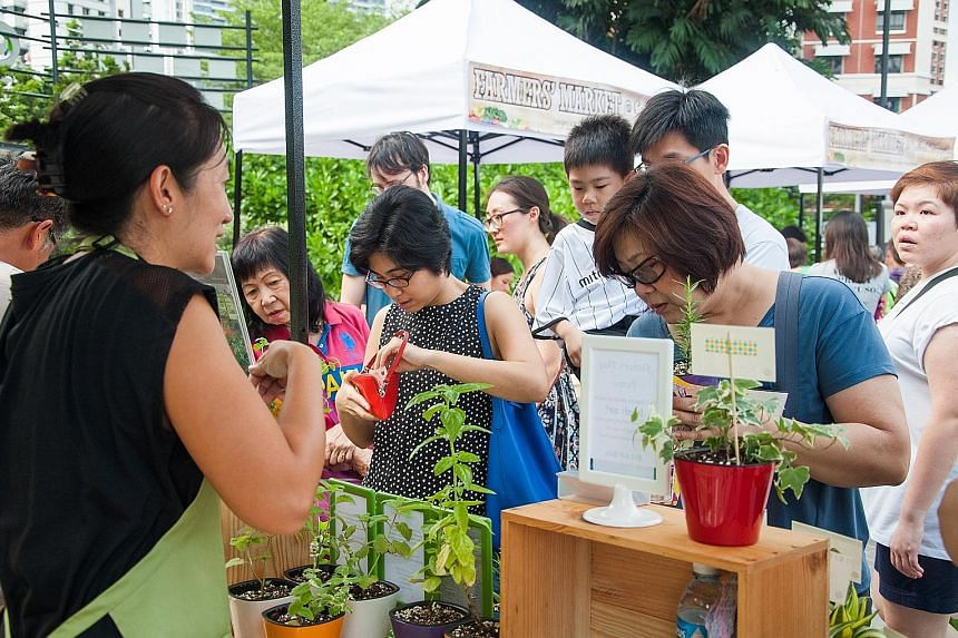More farmers' markets are taking place in the heartland, organised by the Central Singapore Community Development Council.