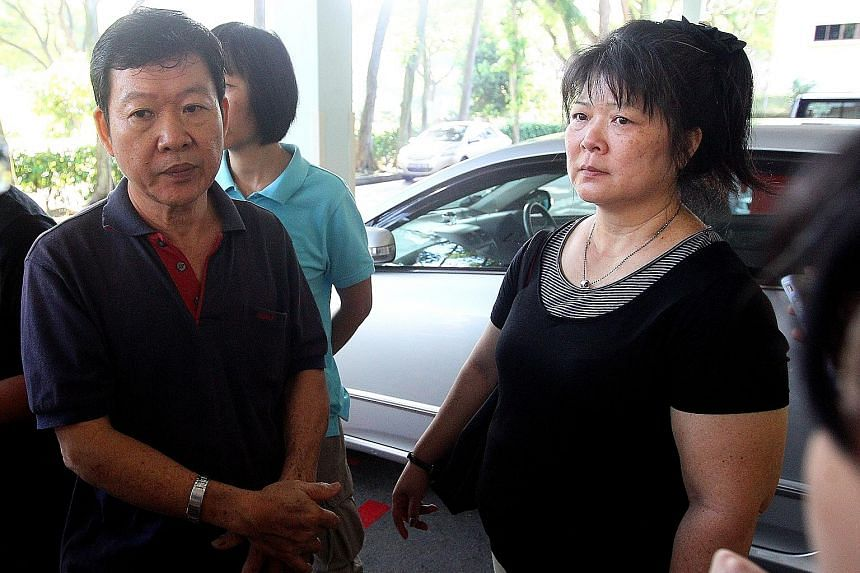 Madam Chen, seen here with her husband Lie Yong Song in 2012, knew her daughter Elsie (below) was dating Lee, but disapproved of the relationship. She was inconsolable after hearing of his sentence.