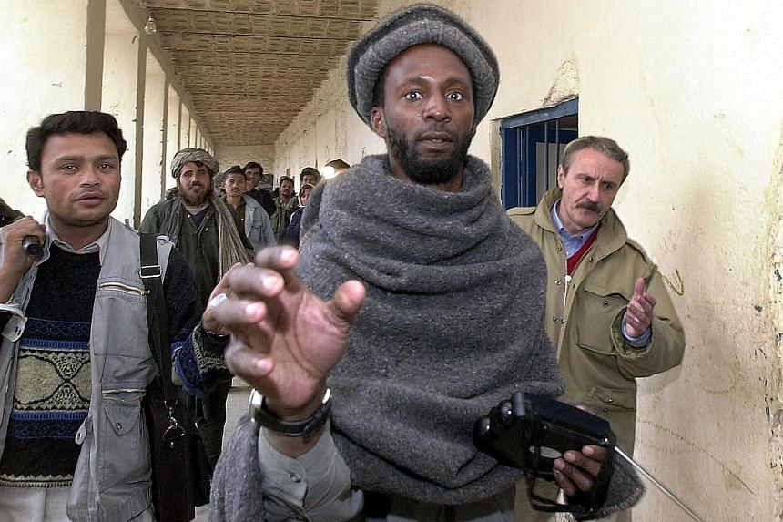 A photo taken in 2001 showing Jamal Malik al-Harith at Kandahar jail in Afghanistan. ISIS claimed he blew himself up on Monday in an attack at a village south-west of Mosul, Iraq. The native of Manchester, England was detained by the US in Guantanamo