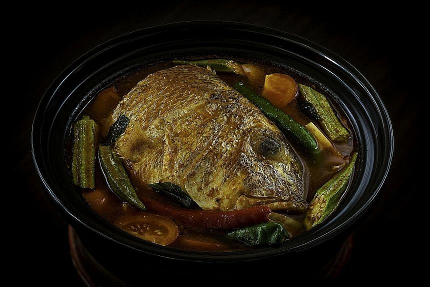 Fish head curry from White Rose Cafe at York Hotel.