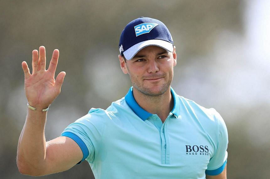 Martin Kaymer of Germany reacts to his birdie on the ninth hole during the first round of The Honda Classic at PGA National Resort and Spa on Feb 23, 2017.