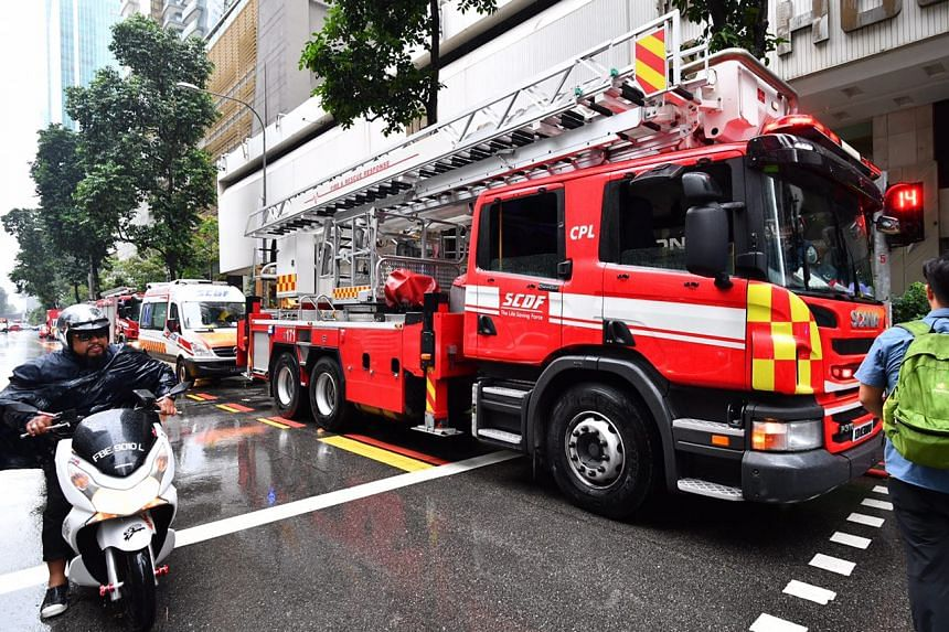 SCDF dispatched three fire engines, one red rhino, two ambulances and two support vehicles to the scene.