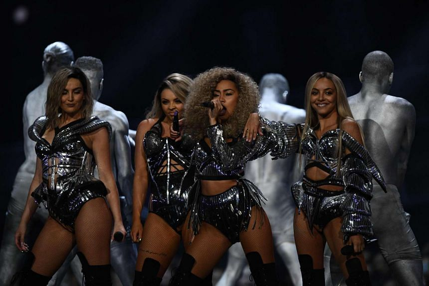 Members of British girl group Little Mix (above, from left) Perrie Edwards, Jesy Nelson, Jade Thirlwall and Leigh-Anne Pinnock took home the award for British Single.