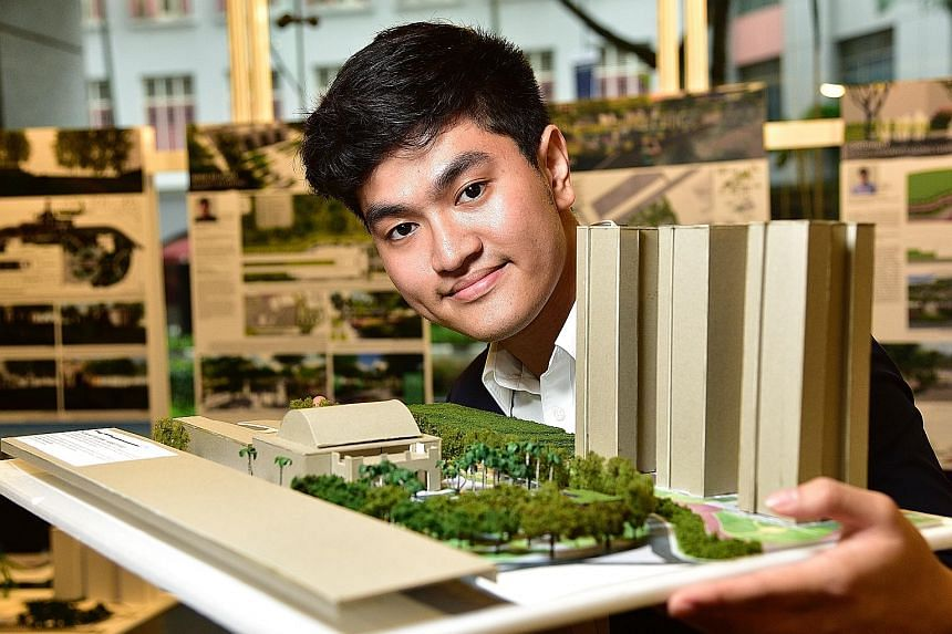 Mr Charleston Chan came up with the idea of creating a barrier of greenery to help reduce noise pollution from the AYE.