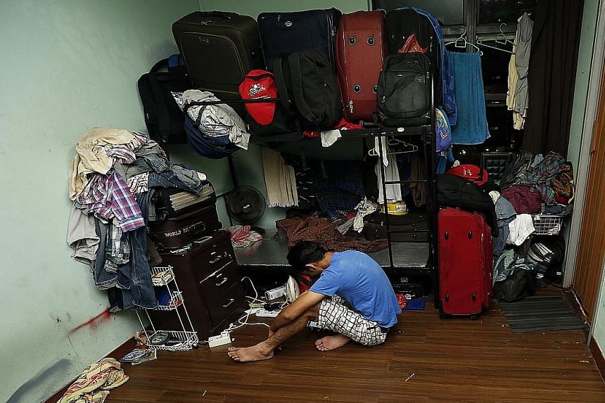 In two Selegie Centre units, more than 40 foreign workers were found living in overcrowded and poorly maintained premises. Unacceptable accommodation was also found at a house in Opal Crescent as well as at a shophouse in Tanjong Katong Road.