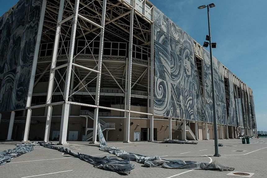 The external covering at the Olympic Aquatics Stadium, which opens to the public only on weekends, is falling off just six months after the Rio Games. The Brazilian organisers, like many others before them, had promised there would be no white elepha