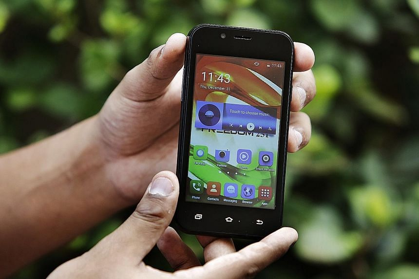 The Freedom 251 phone, priced at 251 rupees (S$5), caused a sensation due to its low price. It went on pre-sale in February last year.