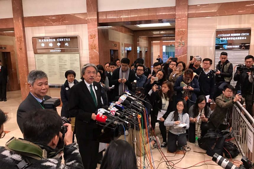 Former financial chief John Tsang submitted his nominations on Saturday morning (Feb 25) to formally qualify for Hong Kong's leadership race.