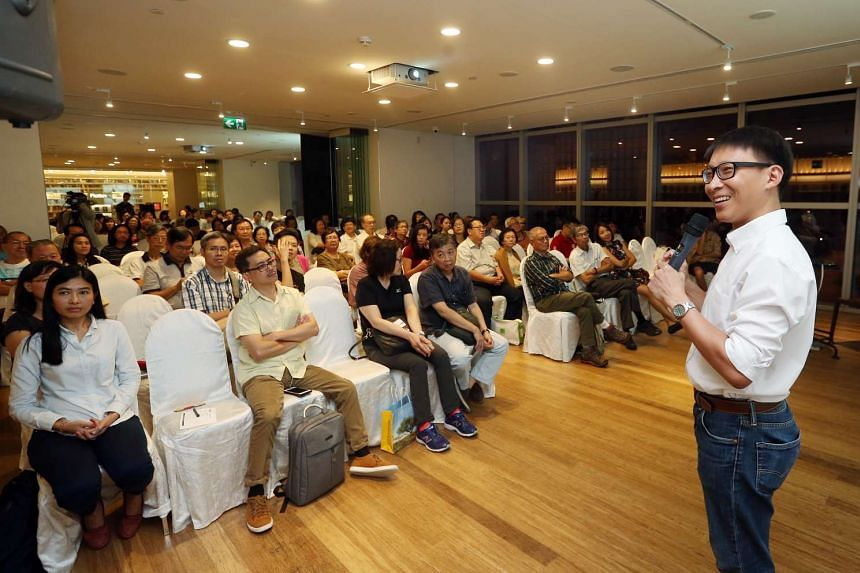 About 100 people turned up for the free askST talk by Mr Alphonsus Chern yesterday.