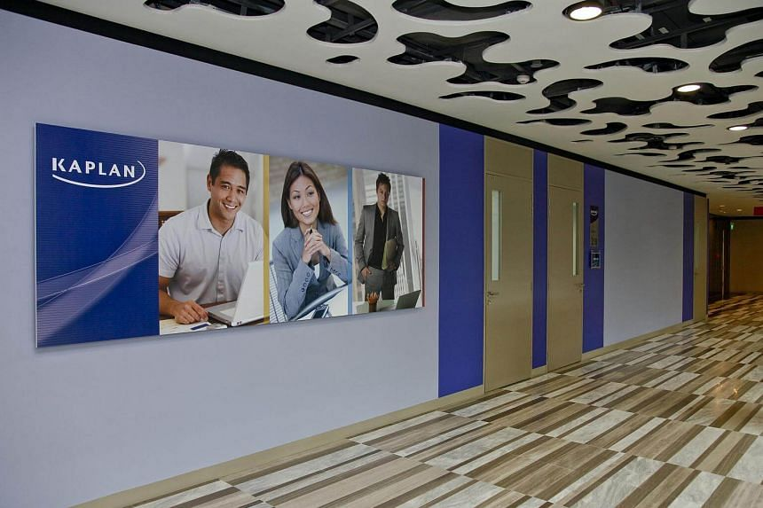 Interior view of the Kaplan Singapore's city campus at Wilkie Edge.