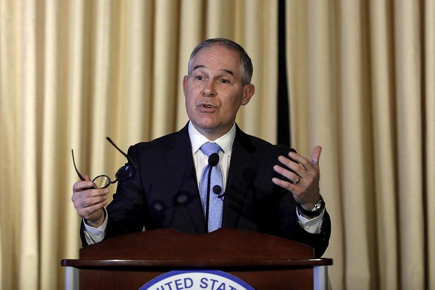 Environmental Protection Agency Administrator Scott Pruitt addressing employees at the agency's headquarters, on Feb 21, 2017 in Washington, DC.