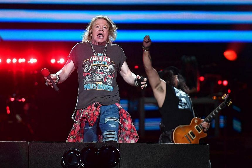 American rock band Guns N' Roses' perform during their first show in Singapore.