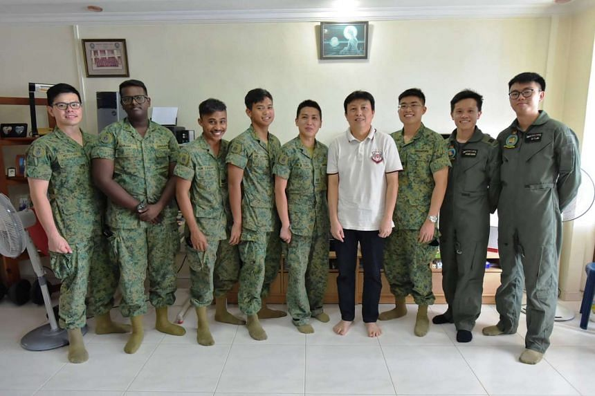 The team of medics paid a home visit to Mr Phua after he was discharged from the Singapore General Hospital.