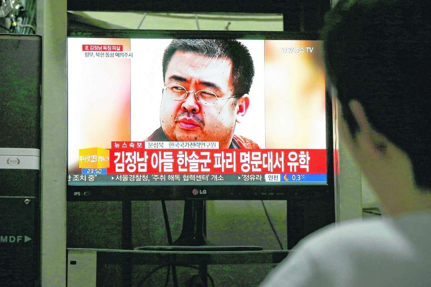 A South Korean man watches TV showing breaking news about the alleged assassination of Kim Jong Nam at a home in Pyeongchang, South Korea, on Feb 14, 2017.