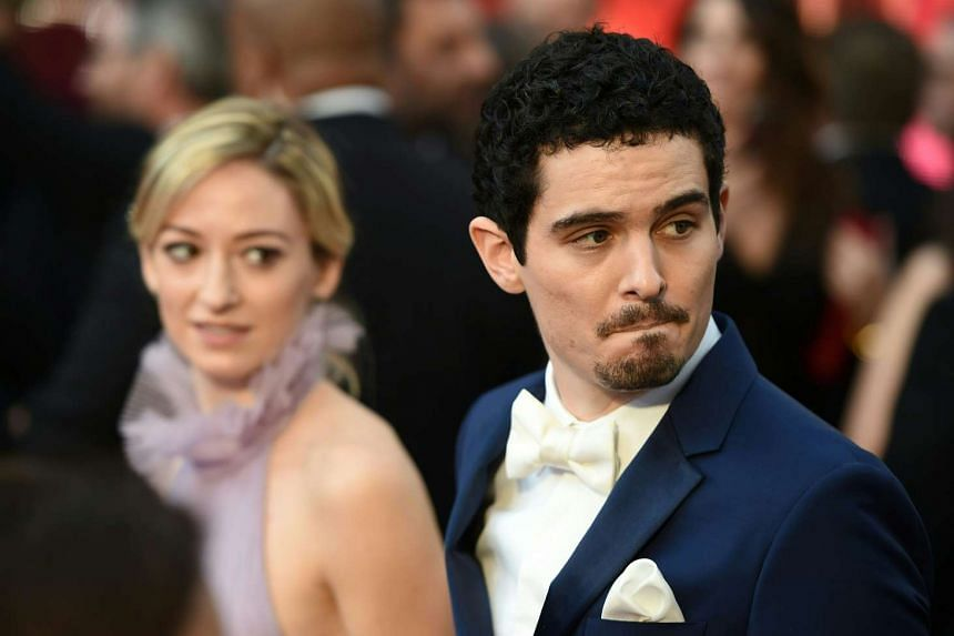 Damien Chazelle arriving on the red carpet for the 89th Oscars on Feb 26, 2017.