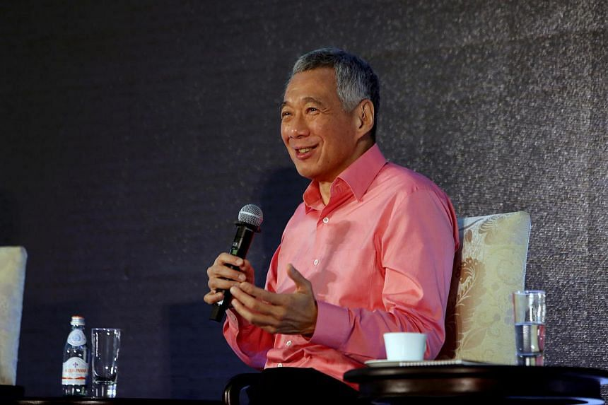 Prime Minister Lee Hsien Loong speaking at Camp Sequoia, an annual technology summit organised by venture capital firm Sequoia Capital India, on Feb 24, 2017.
