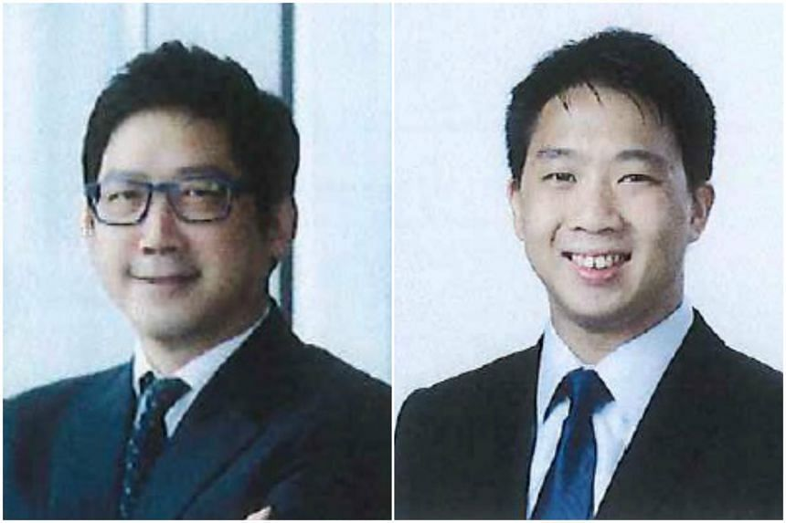 Blue Ocean's founder and chairman, Mr Loo Cheng Guan (left), and Blue Ocean executive director, Mr Daniel Lin.