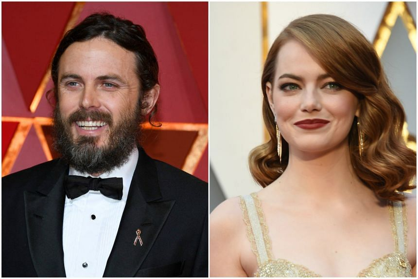 Casey Affleck (left) and Emma Stone. Affleck won Best Actor for Manchester By The Sea, and Stone nabbed the Best Actress award for La La Land.