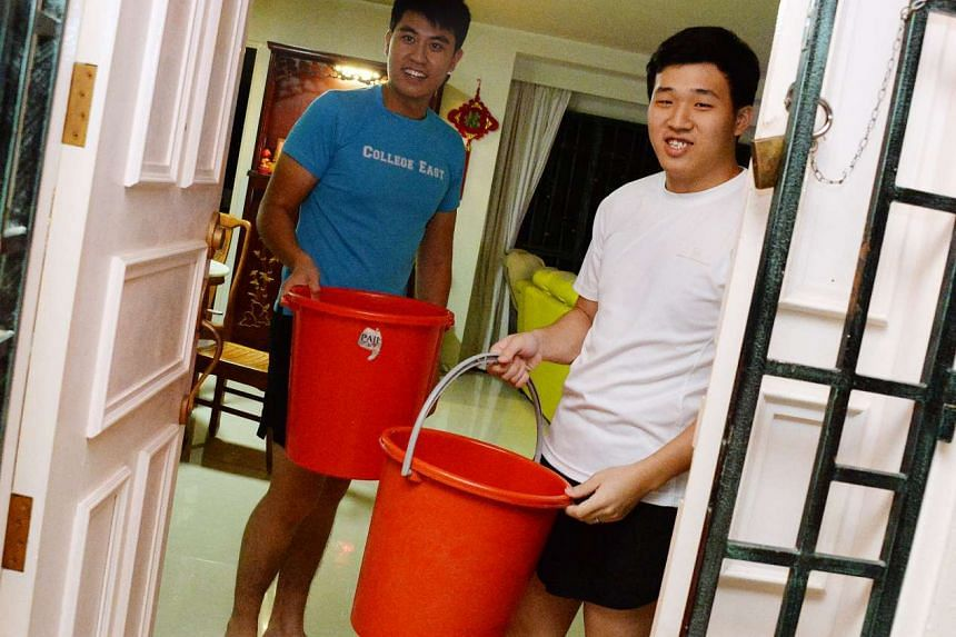 National serviceman Mr Chen, 21, helped to put out the fire along with his father and his friend.