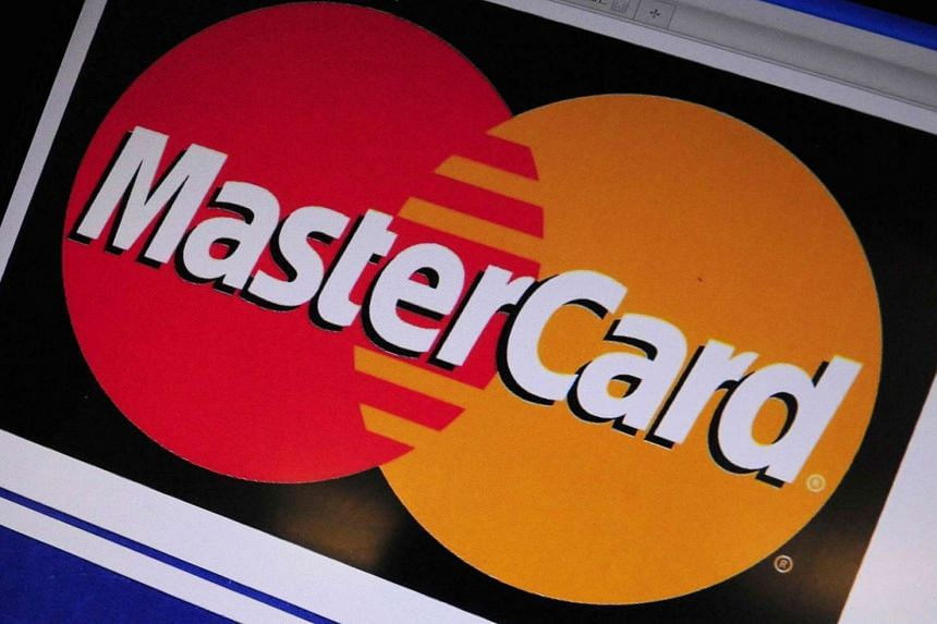 File photograph showing the logo of credit card giant Mastercard.
