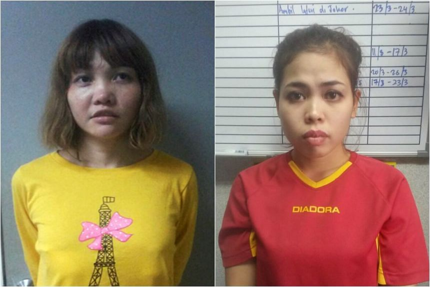 Vietnamese Doan Thi Huong (left) and Indonesian Siti Aishah will be charged on Wednesday.