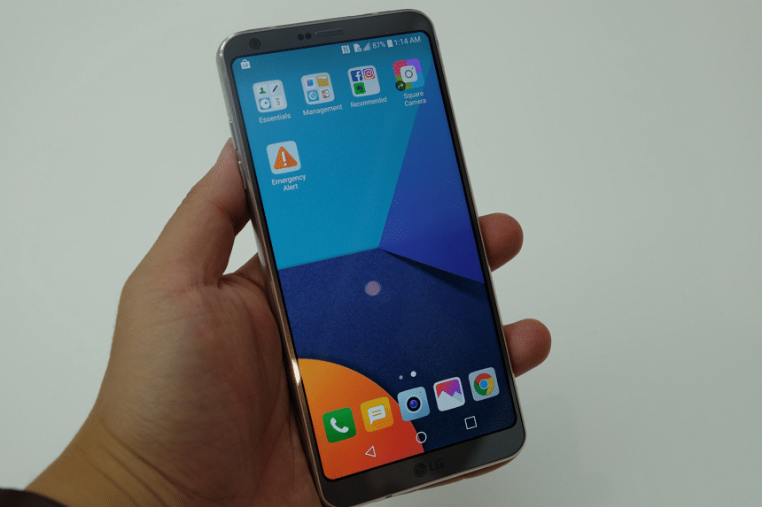 LG's new G6 phone has a screen that stretches nearly edge-to-edge.