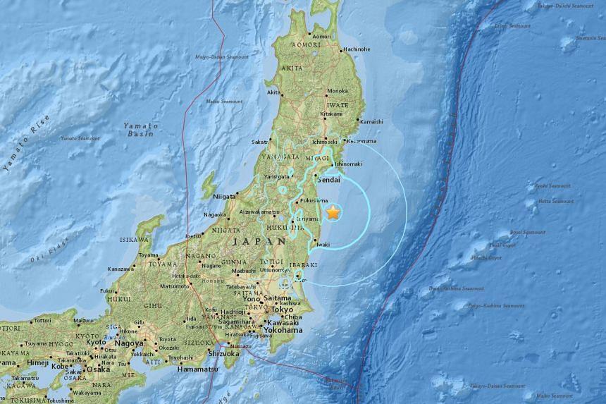 A 5.6-magnitude earthquake struck just off the coast Japan, near Fukushima, on Feb 28, 2017.