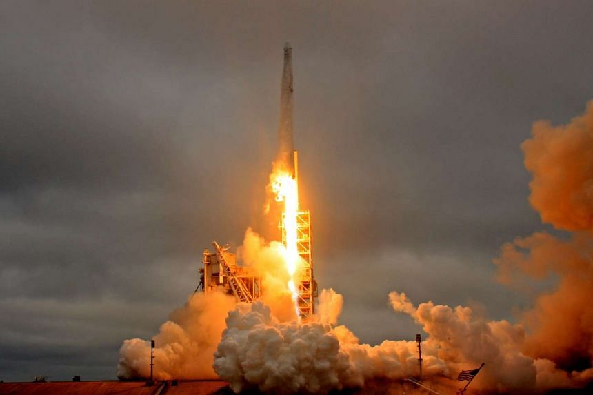A SpaceX Falcon 9 rocket lifts off from the Kennedy Space Center in Cape Canaveral, Florida on Feb 19, 2017