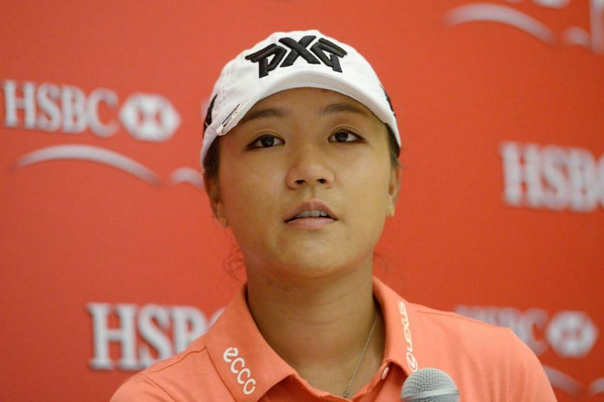 Golfer Lydia Ko speaking at a press conference ahead of the HSBC Women's Champions tournament in Singapore on March 1, 2017.