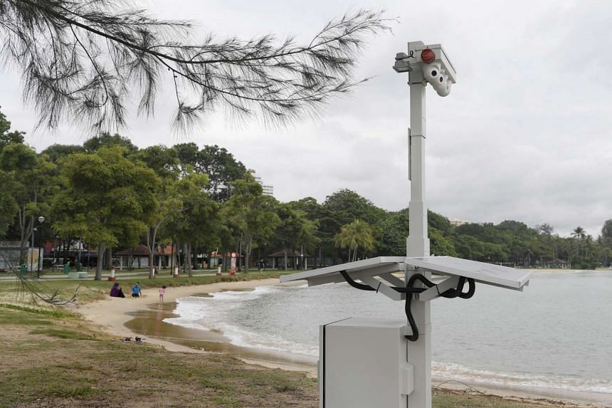 Coastal surveillance cameras have been set up by the Police Coast Guard along East Coast beach to detect intruders such as smugglers and potential terrorists.