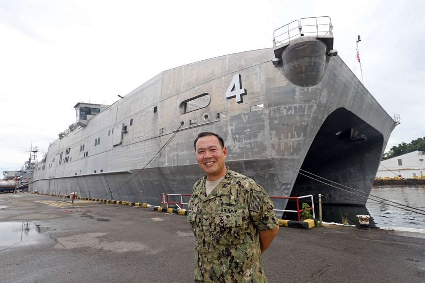Captain Stanfied Chien of US Navy, who is on an annual United States Navy-led humanitarian mission that provides aid to the Asia-Pacific.