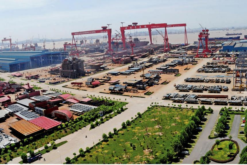 Yangzijiang Shipbuilding Holdings reported its fourth quarter net profit leapt to 607.8 million yuan (S$124.5 million) from 41.5 million yuan a year ago.