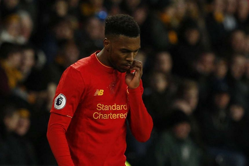 Liverpool's Daniel Sturridge during the Hull City vs Liverpool Premier League match at the Kingston Communications Stadium on Feb 4, 2017.