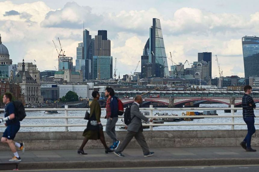 Skyline of buildings in the City of London.