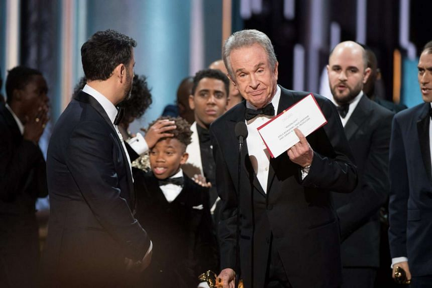 La La Land was mistakenly named Best Picture by presenters Faye Dunaway and Warren Beatty during the 89th annual Academy Awards ceremony at the Dolby Theatre in Hollywood, California, USA, on Feb 26, 2017.