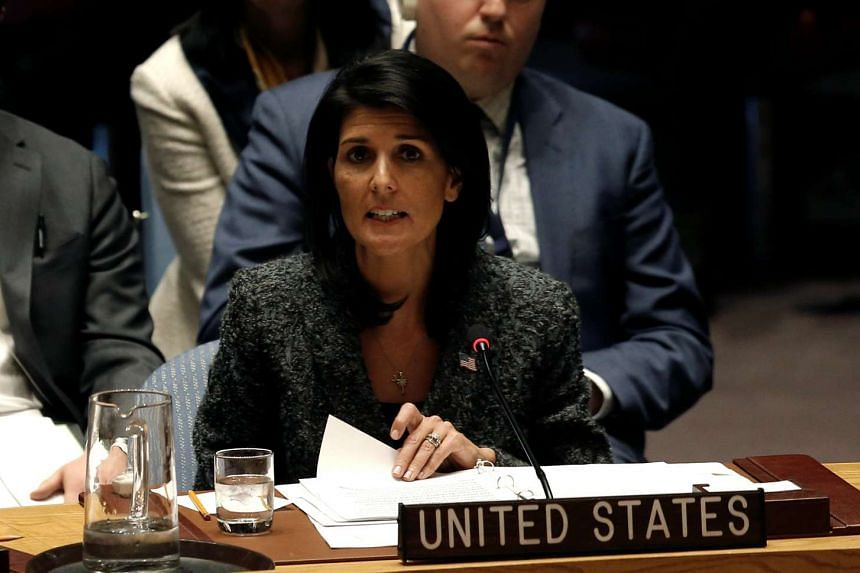 "US Ambassador Nikki Haley (above) said it was a ""sad day"" and that the world is ""definitely a more dangerous place""."