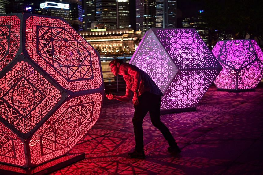 HYBYCOZO, an installation by Yelena Filipchuk of the USA and Serge Beaulieu (pictured) of Canada on show at Esplanade Waterfront on March 1, 2017.