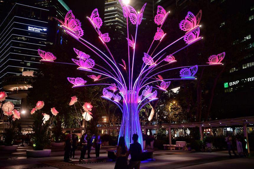 The Colourful Garden of Light by TILT of France pictured at Clifford Square on March 1, 2017.