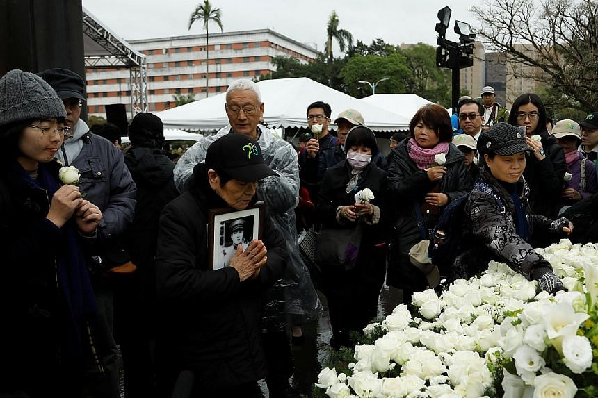 Attendees at the 70th anniversary memorial of the 2/28 Incident. Ms Tsai has vowed a probe into the bloody massacre which killed thousands.