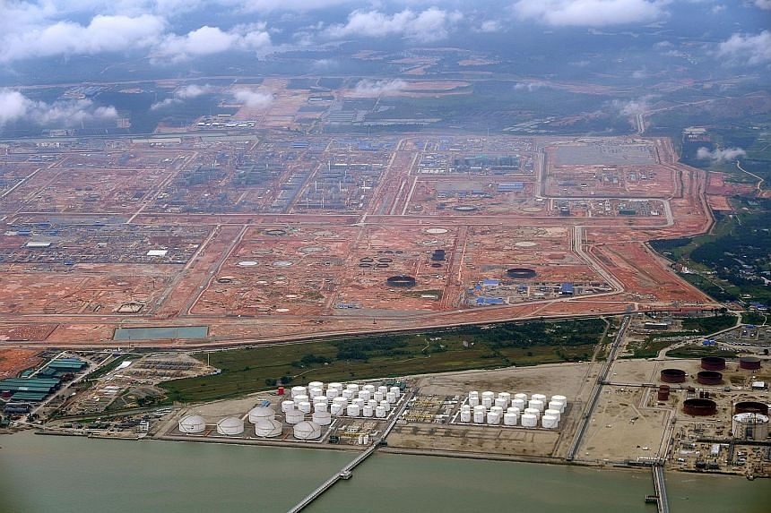 The Pengerang Integrated Petroleum Complex in Johor, now under construction. The complex will include Petronas' major refining and petrochemicals project Rapid and oil storage facilities.