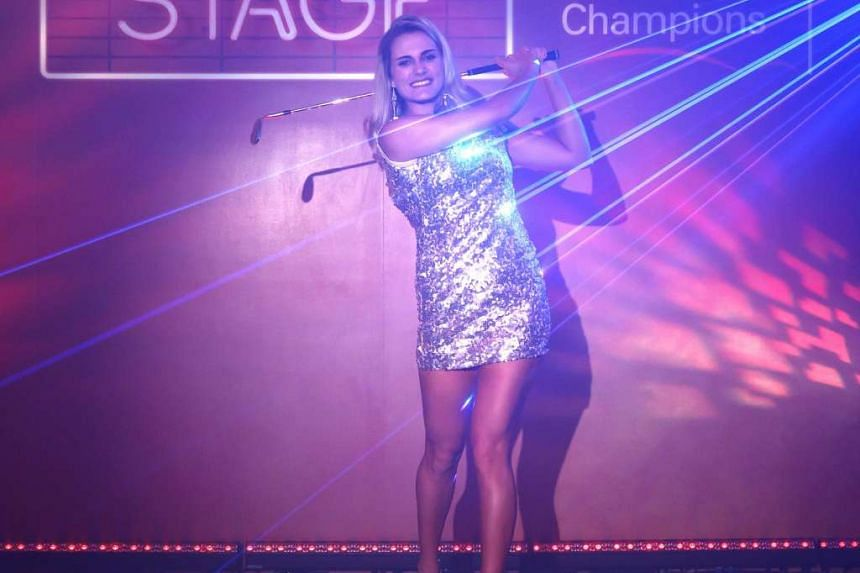 Golfer Lexi Thompson at a photo shoot at Fairmont Singapore.