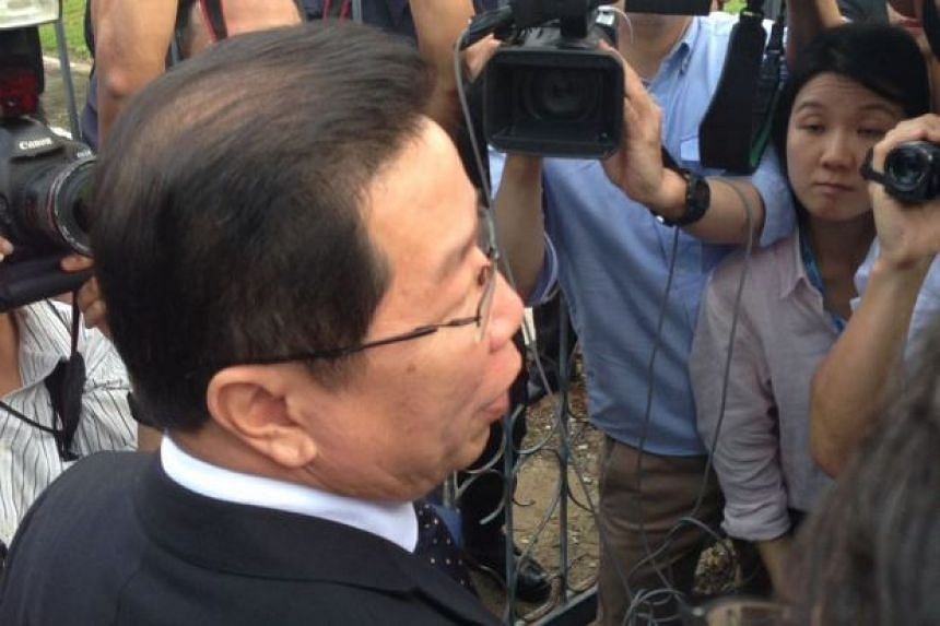 Malaysian lawyer Gooi Soon Seng, representing Indonesian Siti Aisyah, speaking to reporters.