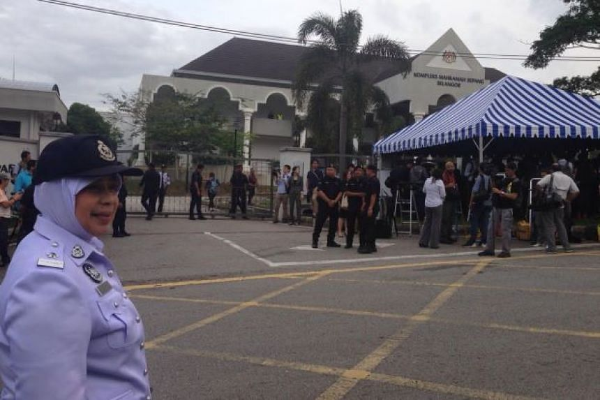 Security in the area was also tight with heavy police presence, including traffic personnel to control the traffic flow.