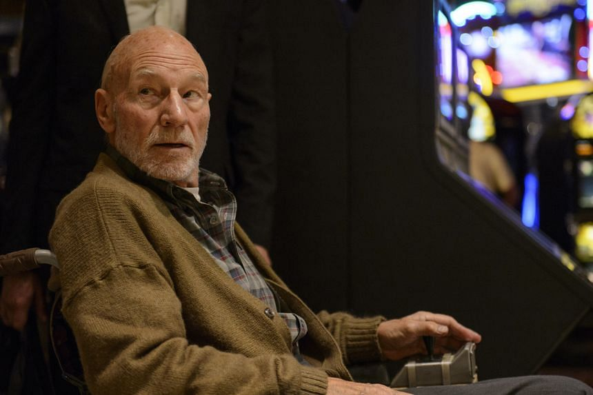 Patrick Stewart (above) plays ailing Professor Charles Xavier.