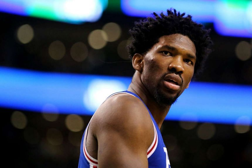Philadelphia 76ers centre Joel Embiid will be out for the rest of the season after suffering a left knee injury.