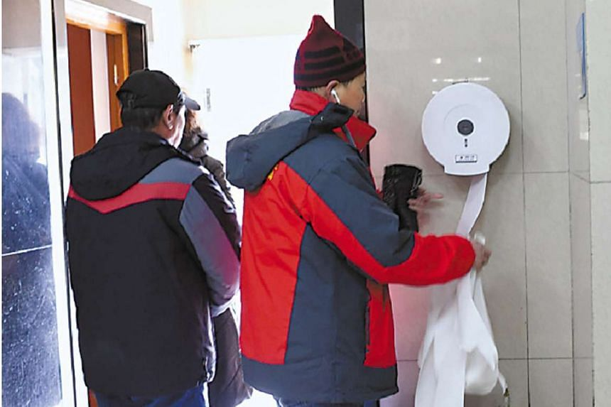 Toilet paper is the main draw for some people at Beijing's popular Temple of Heaven.
