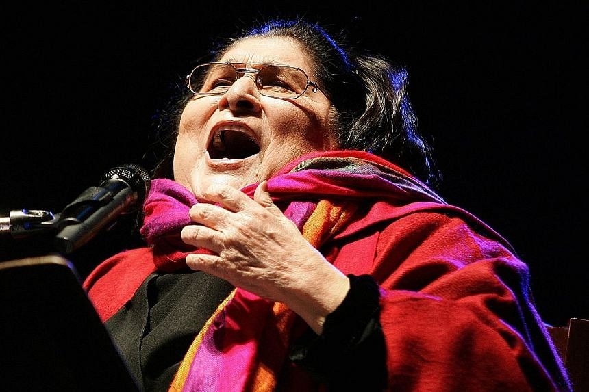 The Spring Revolution festival will stage Revolution, the theatrical work of Pussy Riot, whose members include Maria Alyokhina (left); and pay homage to the late Argentinian folk artist Mercedes Sosa (right).