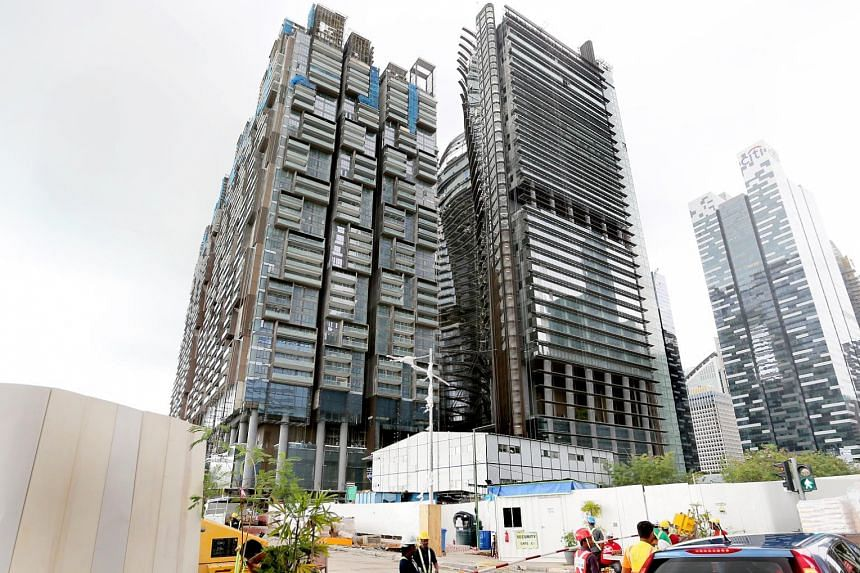 Mr Tanim was believed to have fallen from the 22nd storey and was found on the third storey without a safety harness. Another worker who was hit is in a stable condition.