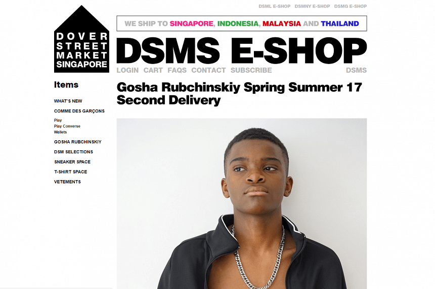 Multi-label concept store Dover Street Market has launched its online store DSMS E-Shop here, which sells clothing and accessories from more than 15 labels and collaboration collections.
